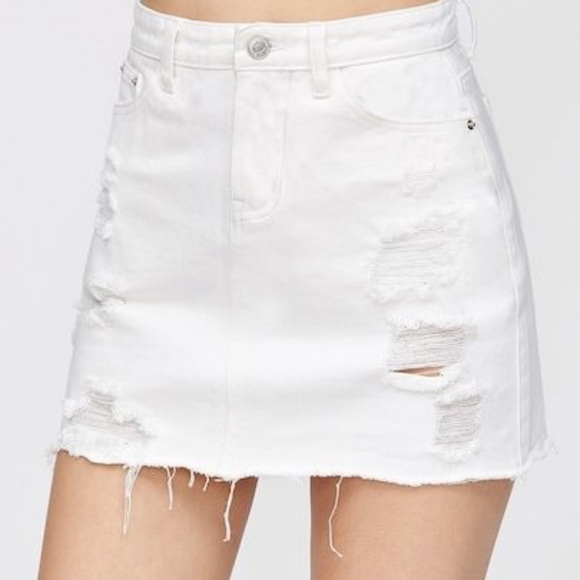 wide selection sleek authentic quality NWOT Women's white jean skirt